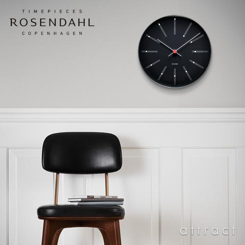 ROSENDAHL ローゼンダール Arne Jacobsen アルネ・ヤコブセン ウォールクロック Bankers バンカーズ ブラック 全2サイズ