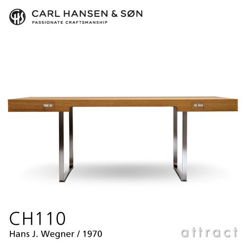 Carl Hansen & Son カールハンセン&サン CH110 デスク オーク オイルフィニッシュ ベース:ステンレススチール サイズ:190cm デザイン:ハンス・J・ウェグナー