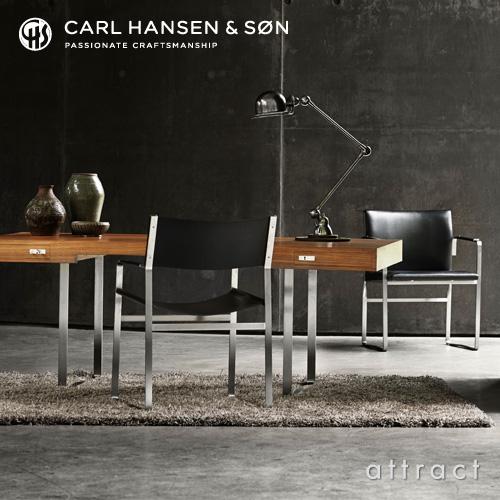 Carl Hansen & Son カールハンセン&サン CH110 デスク ウォルナット オイルフィニッシュ ベース:ステンレススチール サイズ:190cm デザイン:ハンス・J・ウェグナー
