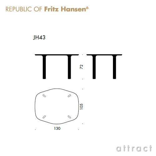 Fritz Hansen フリッツハンセン ANALOG アナログ テーブル JH43 天板:ホワイトラミネート (サイズ:130cm) ウッドレッグ:オーク (日本限定サイズ) デザイン:ハイメ・アジョン