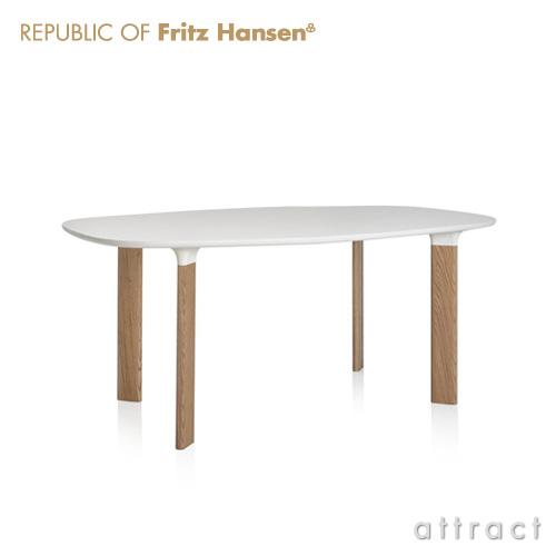 Fritz Hansen フリッツハンセン ANALOG アナログ テーブル JH63 天板:ホワイトラミネート (サイズ:185cm) ウッドレッグ:オーク デザイン:ハイメ・アジョン