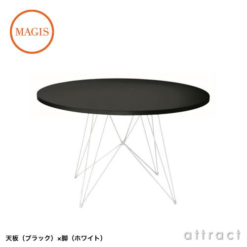 MAGIS マジス Tavolo XZ3 タヴォロ ダイニングテーブル TV186+TV184 直径:120cm 天板カラー:2色 フレームカラー:3色 デザイン:Studio Techno Magis